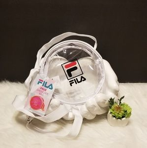 FILA Crossbody Round See-through clear bag purse